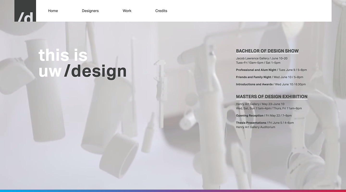 UW Design 2015 Splash Page